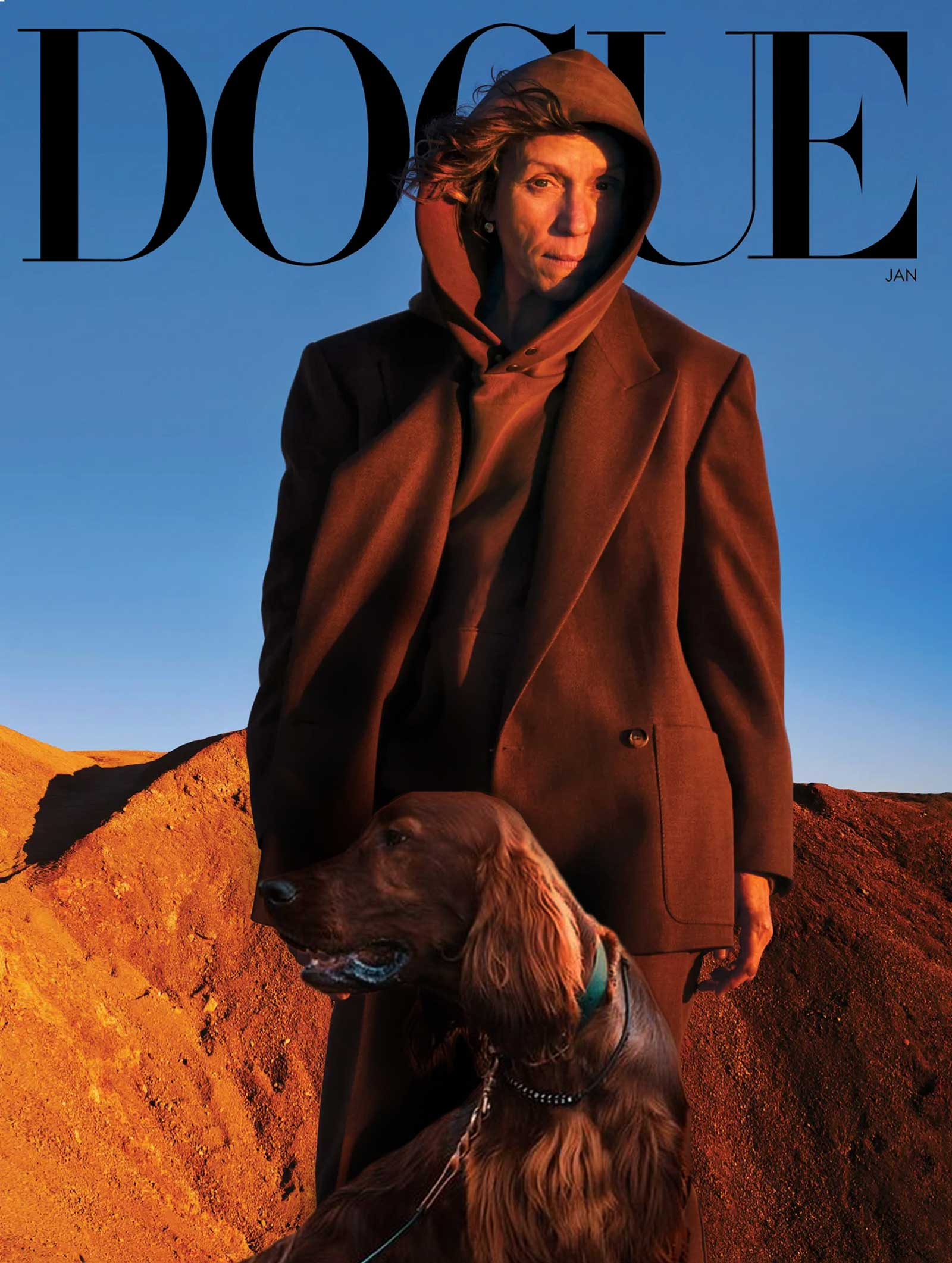 DOGUE Jan 20201 Cover Frances Mcdermod